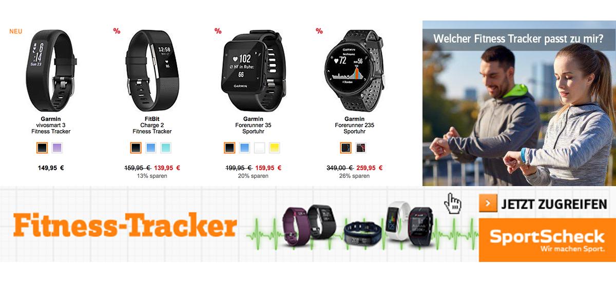 Bis zu 28% Rabatt auf Fitness-Tracker bei SportScheck