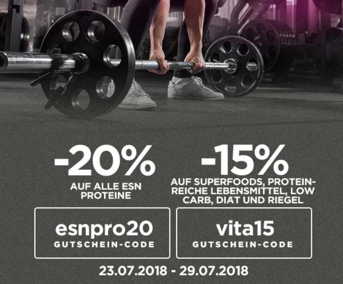 Spare mit Gutschein bis zu 20% auf ESN Produkte