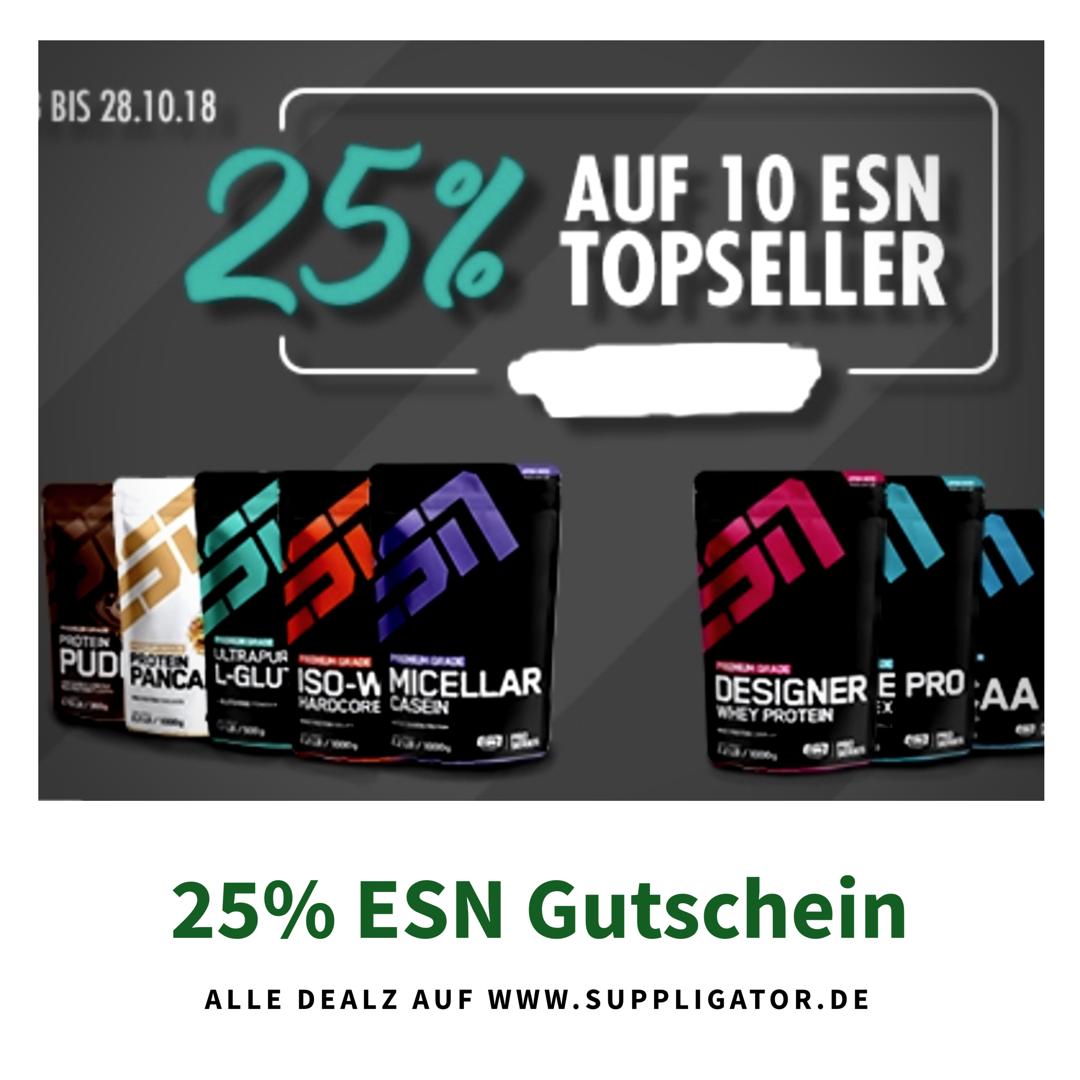 25% Gutschein auf ESN Essentials von Fitmart