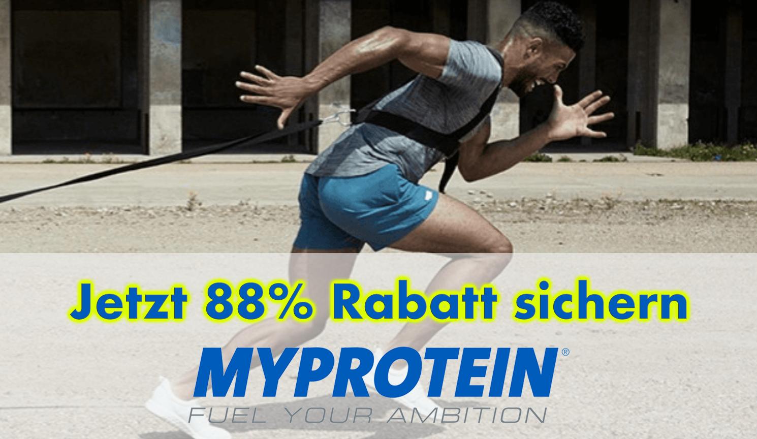 88% Rabatt mit Gutschein bei Myprotein sichern