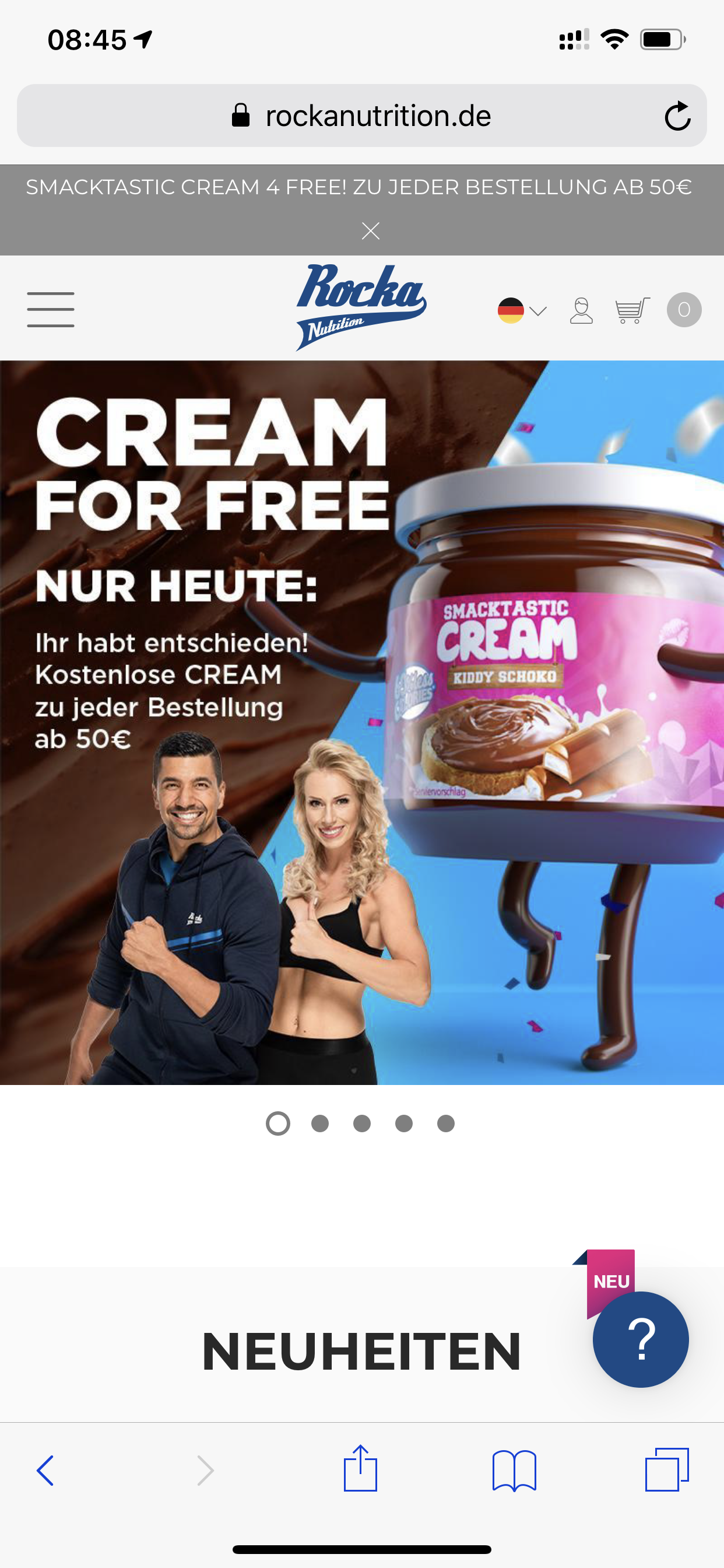 Smacktastic Cream gratis bei Rocka Nutrition (ab 50€)