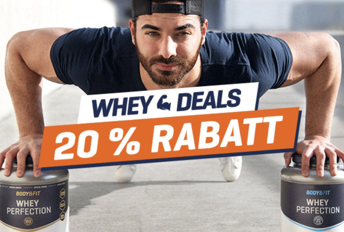 40% Rabatt auf Whey bei Body&Fit mit Gutscheincode