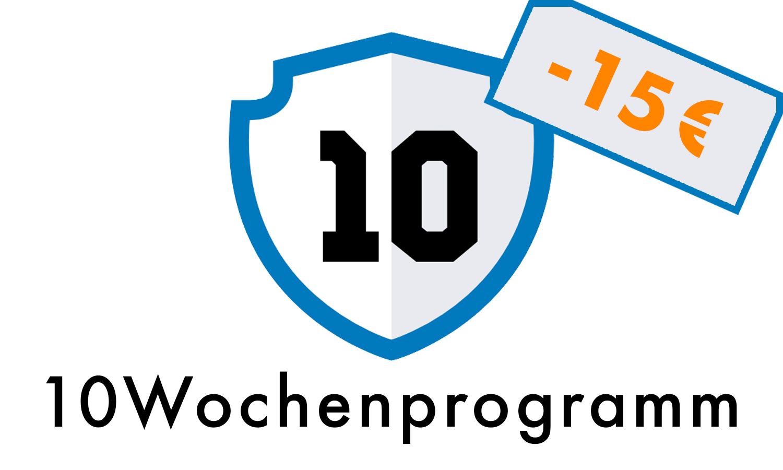 Gutschein für 15€ Rabatt auf das 10Wochenprogramm