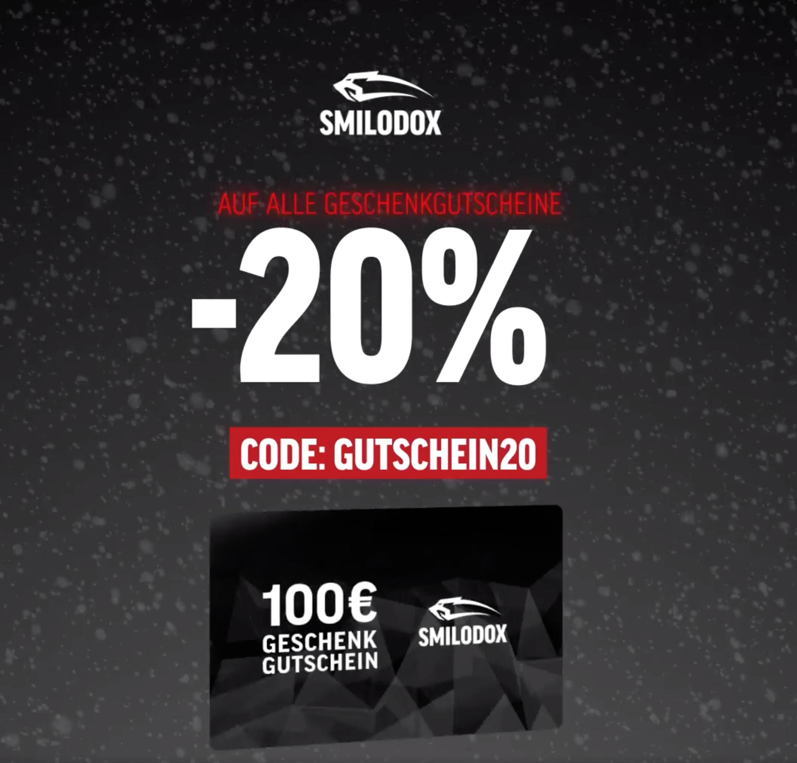 20% Rabatt auf Gutscheine bei Smilodox