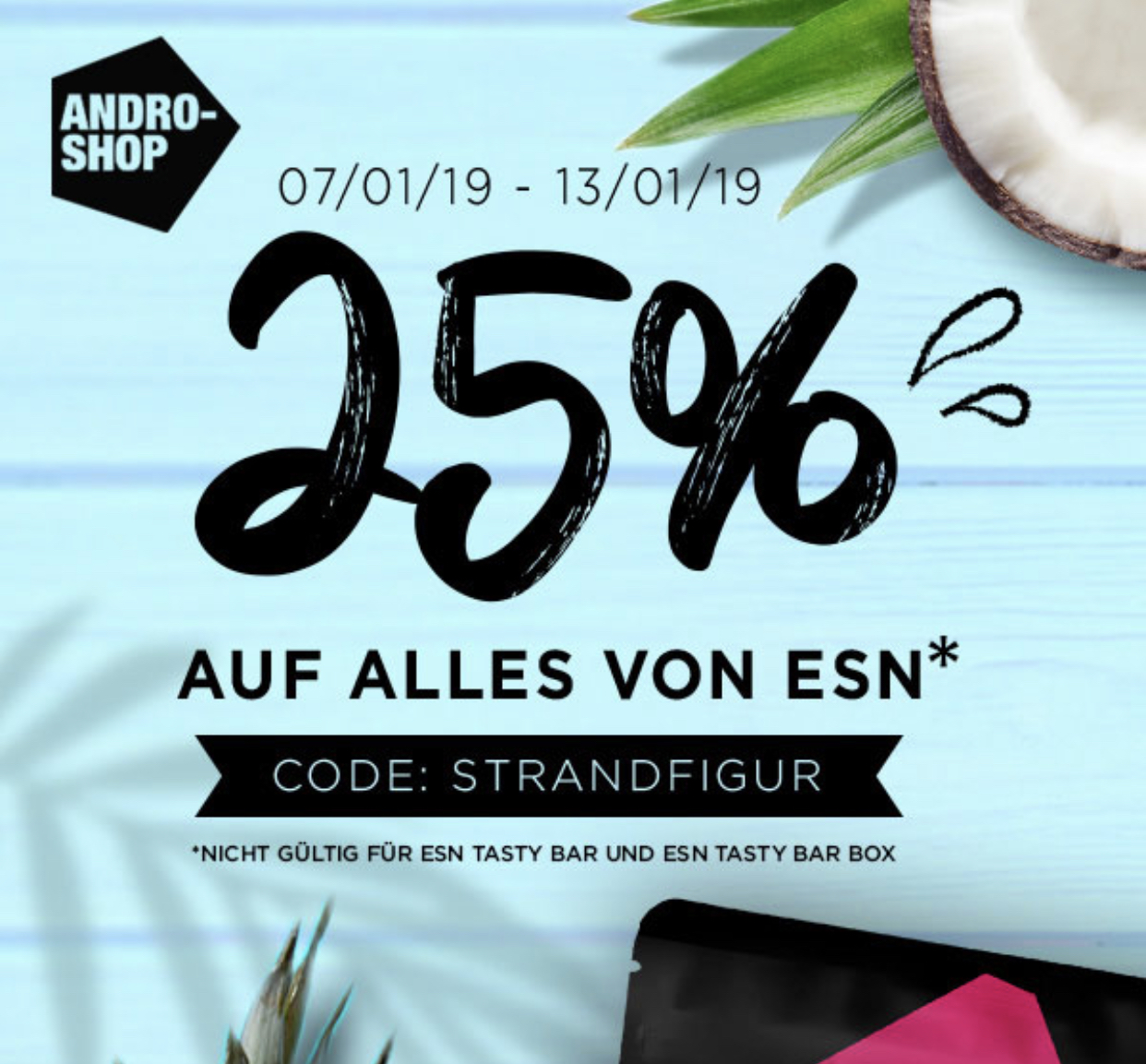 25% auf alle ESN Produkte