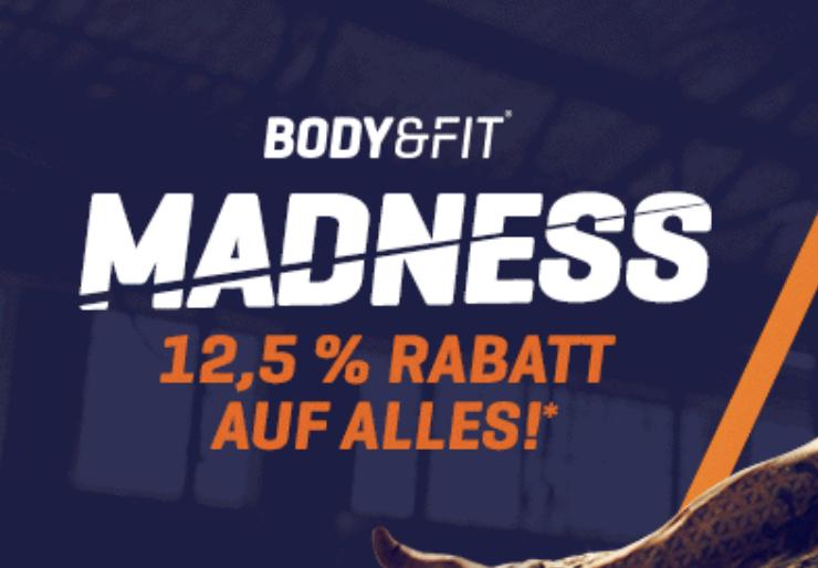 12,5% Rabatt auf alles bei Body&Fit