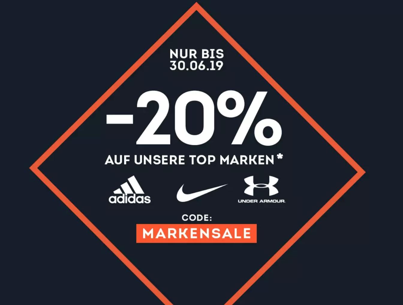 SportScheck Gutschein ⇒ 20% auf Adidas, Nike und Under Armour