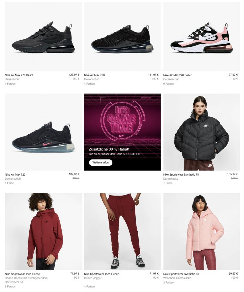 30% on top auf Nike Sale |