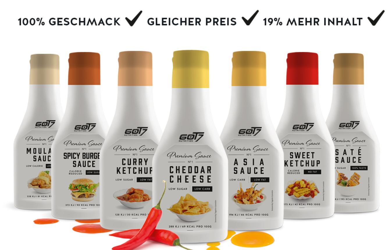 Spare 36% auf GOT7 Premium Saucen