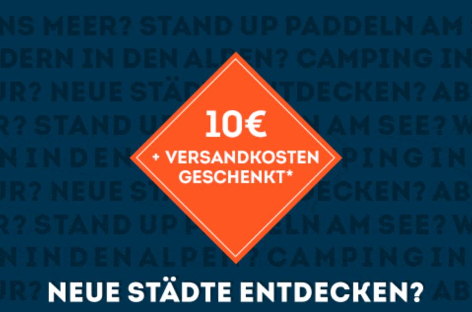 10€ Sportscheck Gutschein + VSK-frei