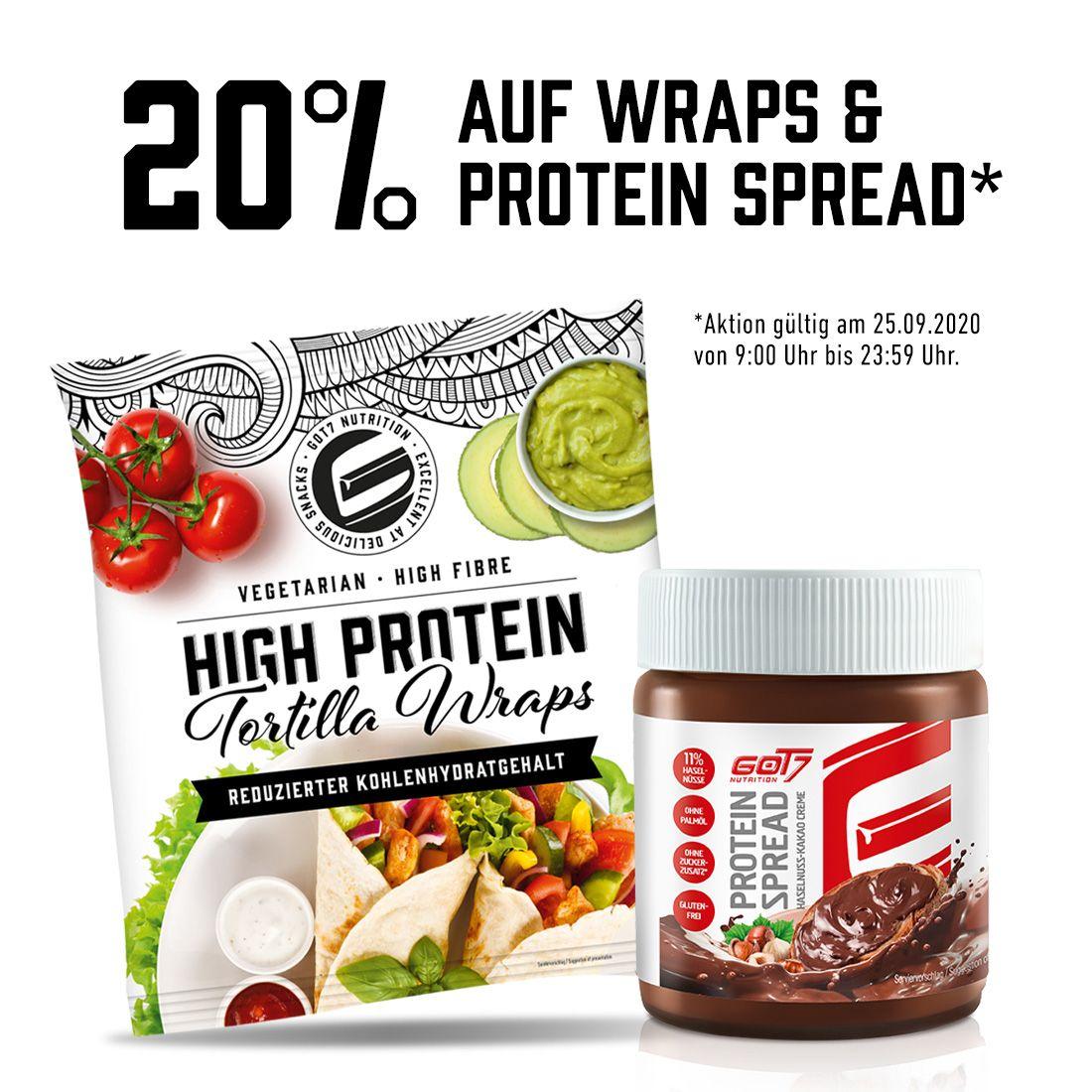 30% Gutschein auf GOT7 Wraps und Protein Spreads
