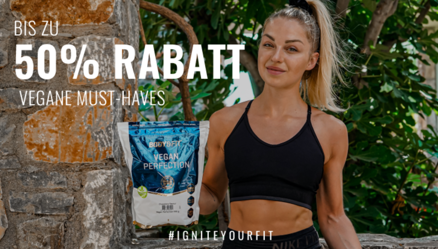 50% Rabatt auf vegane must haves von Body & Fit