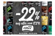 Fitmart Gutschein für 22% Rabatt auf alle ESN Artikel