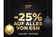 25% auf alles von ESN