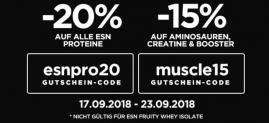 20% Rabatt auf ESN Protein-Artikel von Fitmart
