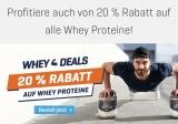 Body & Fit mit 20% Rabatt auf alle Whey Proteine