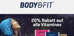 20% Rabatt auf alle Vitamine bei Body&Fit