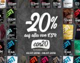 20% Rabatt auf alle ESN Produkte mit Fitmart Gutschein