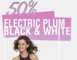 50% Rabatt auf BUMBUM Kollektion Electric Plum BlackWhite