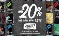 20% Rabatt auf alle ESN Produkte bei Fitmart