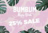 25% Rabatt auf Happy Blush Kollektion von BUMBUM