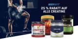 25% Rabatt auf alle Creatin Produkte bei Body&Fit