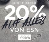 20% auf alles von ESN