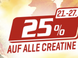 25% auf alle Creatine von Body Attack