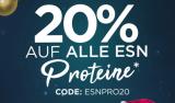 20% auf alle ESN Proteine und Sportswear