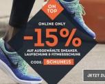 15% Rabatt auf ausgewählte Schuhe bei Sportscheck
