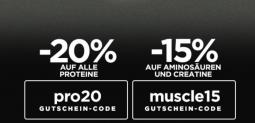 Fitmart Gutschein mit bis zu 20% Rabatt auf ESN Produkte