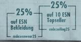 25% Rabatt auf ESN Bekleidung und Top-Seller