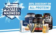 20 Prozent Rabatt auf alle Proteine von Body & Fit (Gutscheincode)