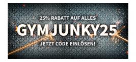 25% Rabatt auf alles bei Gymjunky