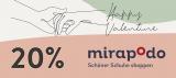20% mirapodo Gutschein