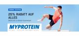 25% Rabatt auf alles bei MyProtein
